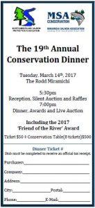 NSPA/MSA Conservation Dinner Ticket
